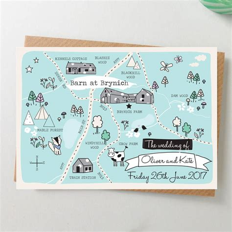 free maps for wedding invitations bespoke illustrated map wedding invitation by paper and