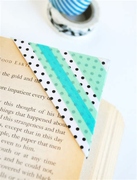 washi tape diy diy washi tape bookmarks