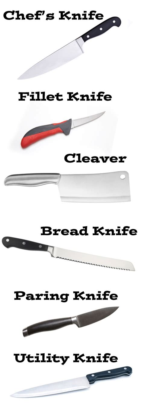 kitchen knives and their uses 28 types of kitchen knives and their uses food