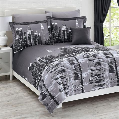 themed comforter sets total fab new york city themed skyline comforters sets