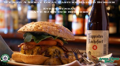 farm to table restaurants hudson valley hudson valley restaurant weekly specials aroma thyme