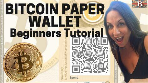 bitcoin brain wallet tutorial bitcoin paper wallet beginners tutorial youtube