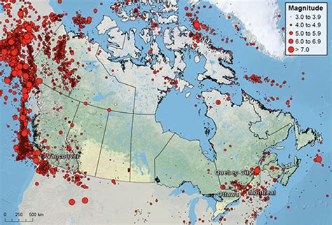 earthquake zones in canada a new view of canada s earthquake risk