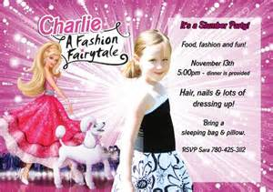 barbie birthday party invitations bagvania free