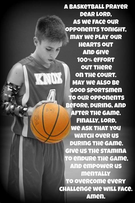 basketball prayer basketball quotes  inspiration pinterest basketball  prayer