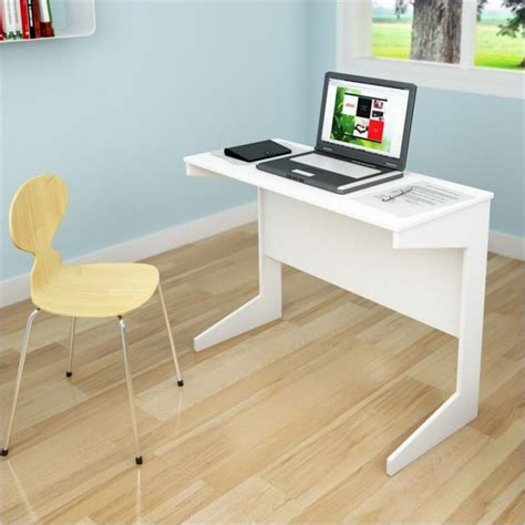 Sonax Slim Workspace Desk In Frost White Small White White Small Desks
