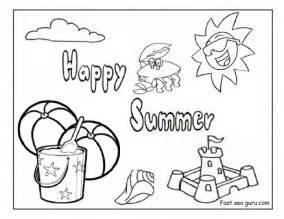 Happy Summer Coloring Page  GetColoringPagescom sketch template