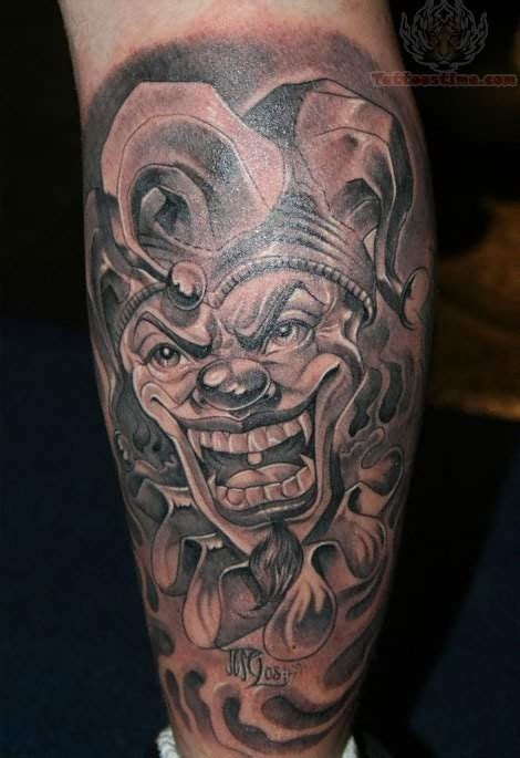 joker king tattoo 1990tattoos joker clown tattoos