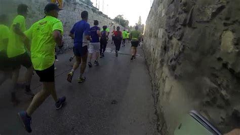 Fifteen Waiter Running The Marathon by Jerusalem Marathon Through The Of A Runner