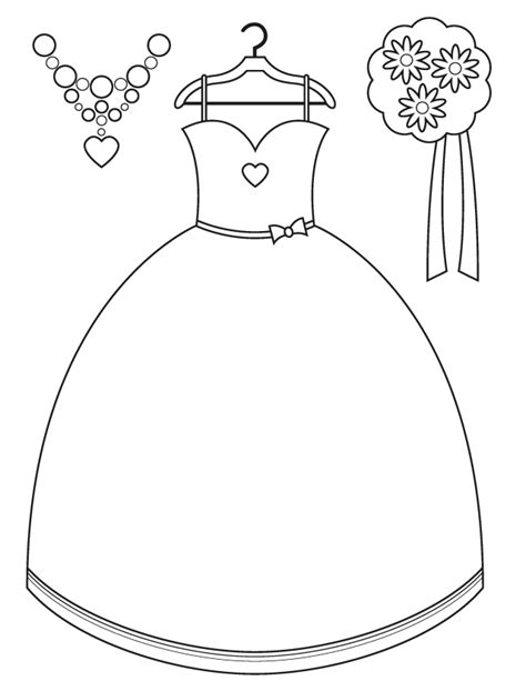 coloring page of a dress printable wedding coloring pages az coloring pages