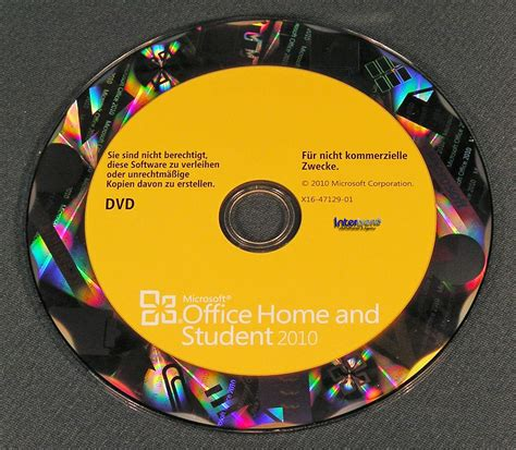 Dvd Microsoft Office microsoft office home and student 2010 vollversion 3 pc family pack box dvd ebay