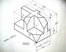 isometric drawing exercise isometric draw disegno