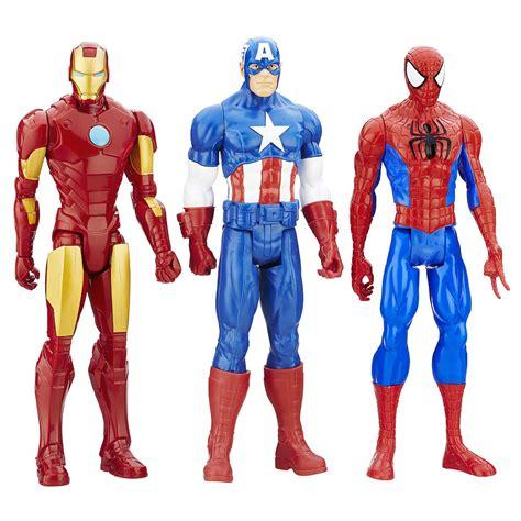 Figure Iron Heroes Marvel marvel titan series figure iron captain america spider 3 pack gamesplus