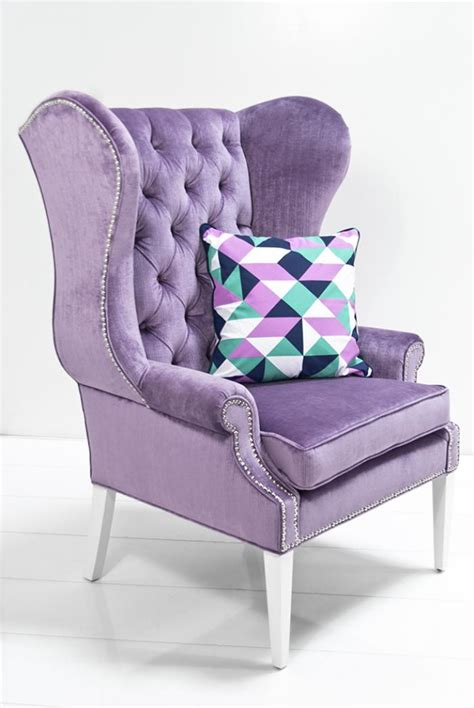 wwwroomservicestorecom swan wing chair  lavender velvet