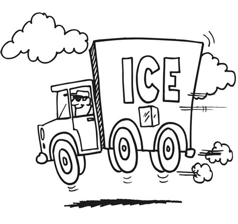 coloring page delivery truck truck coloring page ice truck