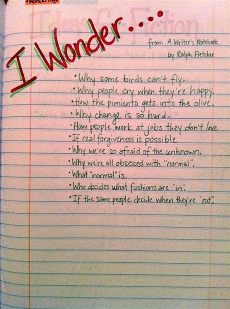 interesting things to write a paper on 25 best ideas about writers notebook on