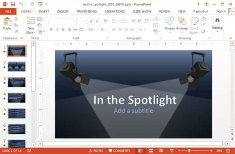 In The Spotlight Animated Powerpoint Template How To Create A Presentation Template