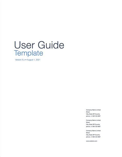 user guide template user guide templates apple iwork pages numbers