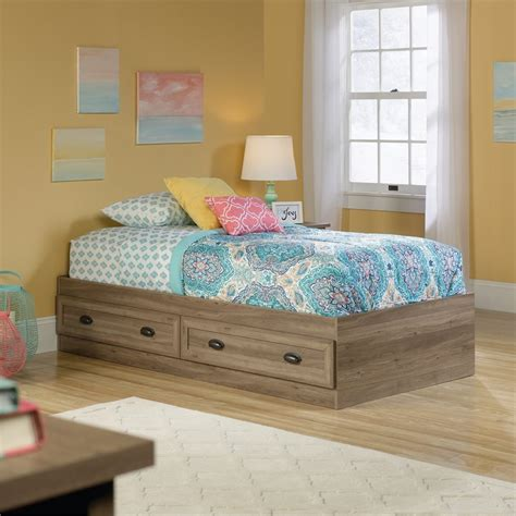 salt bed twin mates bed in salt oak 419459