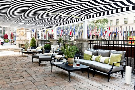 retractable patio cover retractable patio cover at rockefeller center shadefx canopies