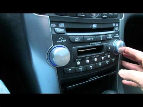 2004 Acura Tl Radio Code Reset Acura Tl Radio Removal 04 05 06 07 08 How To Remove