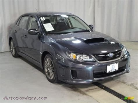 grey subaru 2011 subaru impreza wrx sedan in dark gray metallic photo