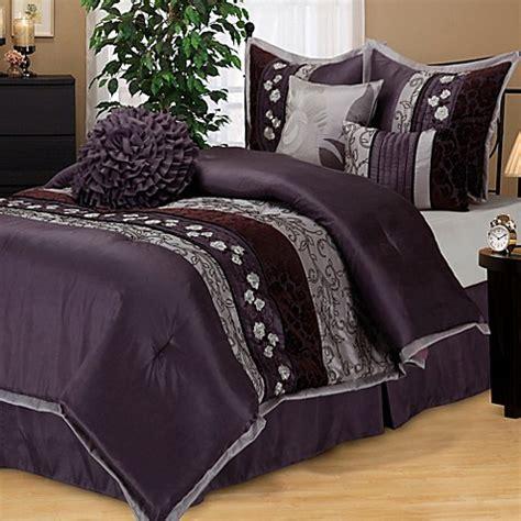 purple bedding sets queen buy riley comforter set in purple from bed bath beyond