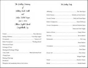 template for wedding ceremony program best photos of marriage ceremony template sle wedding
