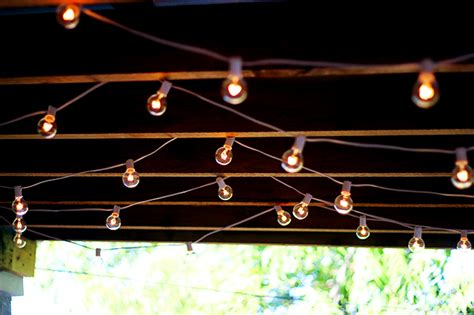 The Best Outdoor Patio String Lights Patio Reveal Best Way To Hang String Lights