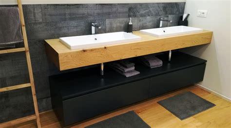 mobile bagno doppio lavello mobile bagno con mensola in legno doppio lavabo