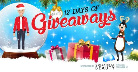 Ellentv 12 Days Of Giveaways - ellen s 12 days of giveaways 2016 everything you need to know