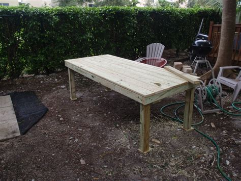 Patio Table Diy diy backyard patio table to travel is better than to arrive