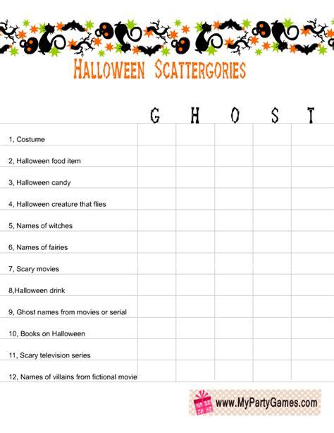 printable scattergories dice free printable scattergories inspired halloween game