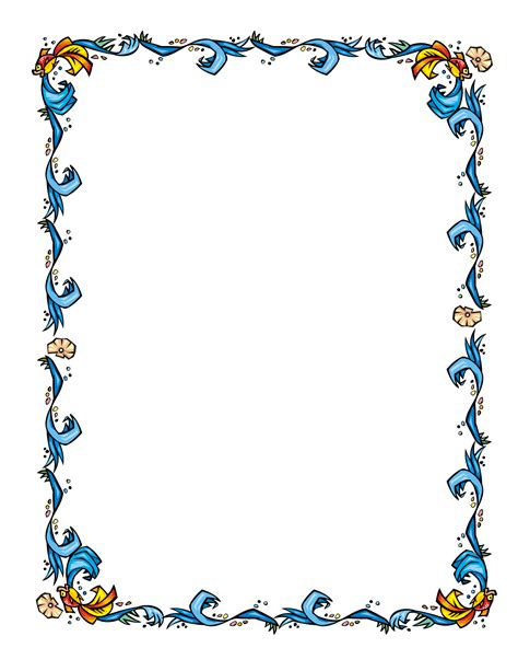 floral borders for word clipart best