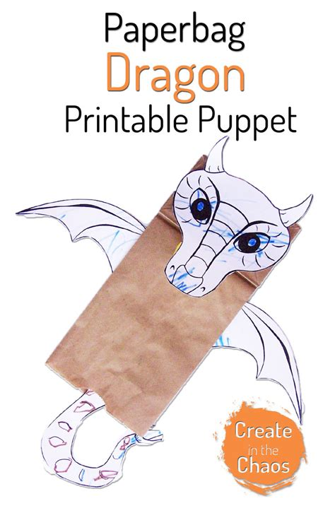 printable paper puppets paper bag dragon puppet dragon puppet printable paper