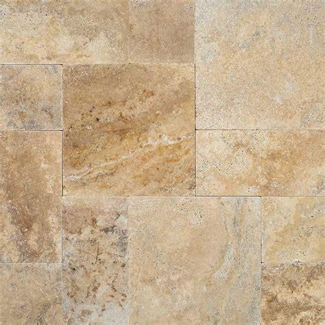tuscany porcini tumbled travertine 8x16 pavers tile
