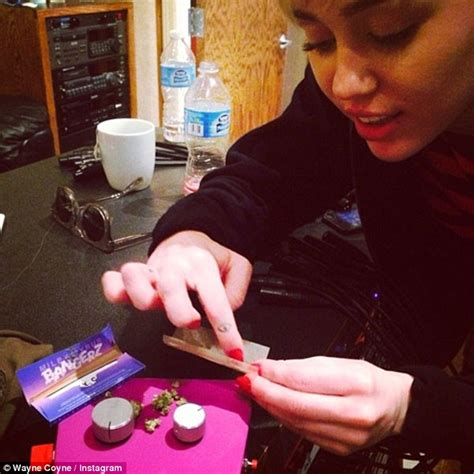 miley cyrus line in the bathroom miley cyrus puffs on joint at 7 30am on miami hotel balcony daily mail online