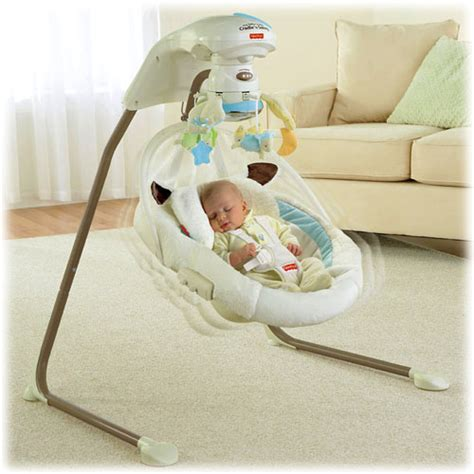 fisher and price my little lamb cradle and swing object moved