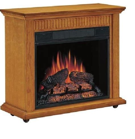 Amish Wood Fireplace by Classic Carver Amish Style Oak Mantel Electric