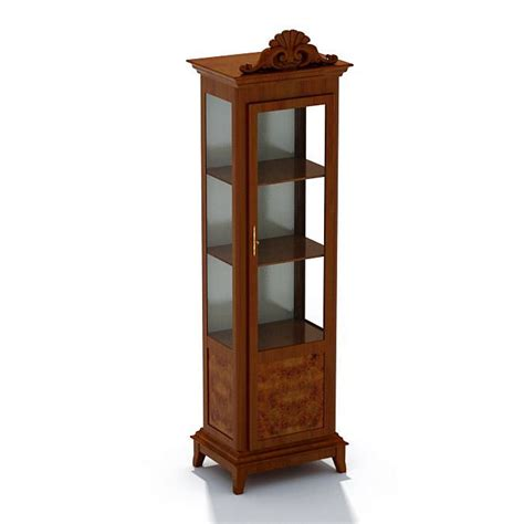 wood and glass display cabinet 3d model cgtrader