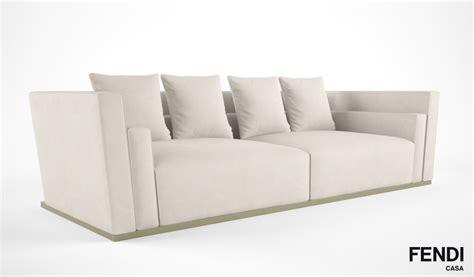 fendi casa sofa fendi casa borromini sofa 3d model max obj fbx cgtrader com