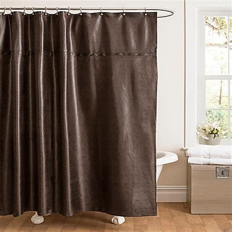 leather shower curtains buy rylee faux grain leather shower curtain in brown from