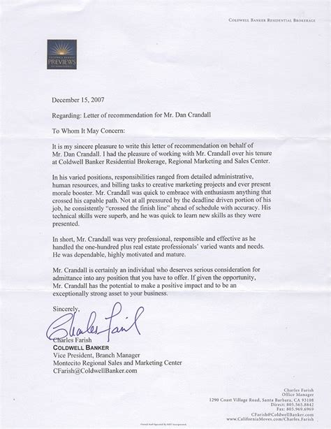 Reference Letter Office Manager letter of recommendation sle for office manager
