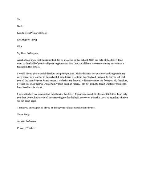 farewell letter to colleagues template goodbye letter to colleagues a farewell letter to