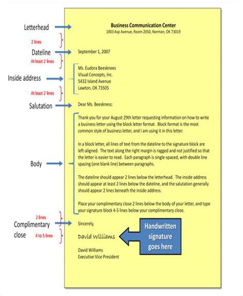 sle of formal communication letter 51 formal letter format template free premium templates