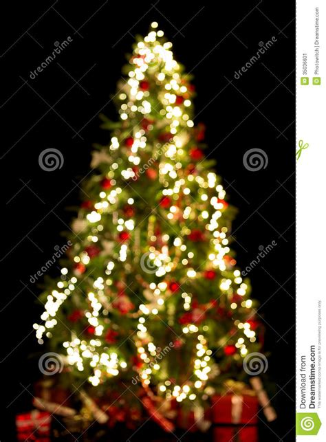 blurred christmas tree stock image image 35036601