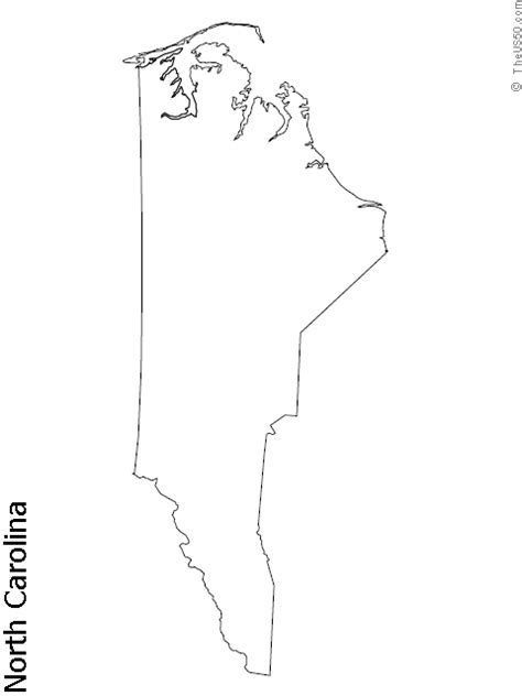 nc map coloring page the us50 view the blank state outline maps