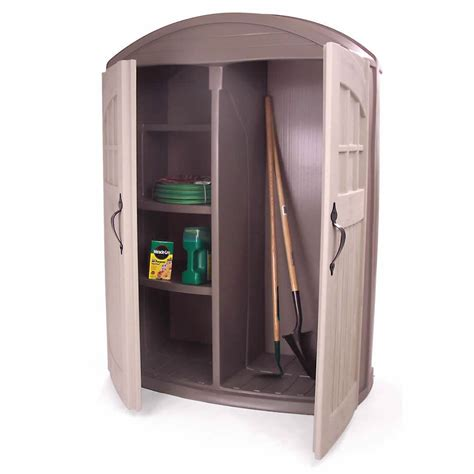 Rubbermaid Outdoor Storage Cabinet Bels Vertical Storage Sheds Diy