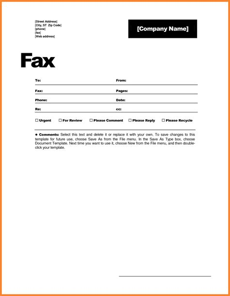 fax cover letter word template exle fax cover sheet bio resume sles