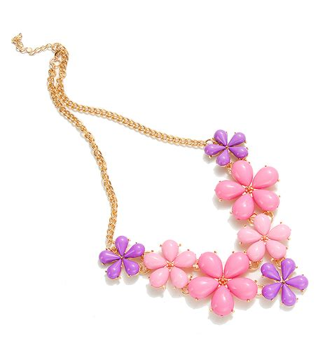 8 And Colorful Necklaces by 2017 Big Flower Choker Necklace Pink Blue Colorful Glod